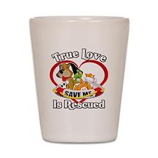 Rescued-Love-2009-blk Shot Glass