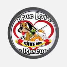 Rescued-Love-2009-blk Wall Clock