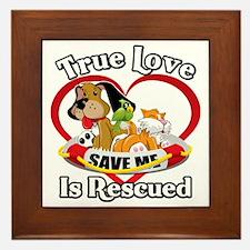 Rescued-Love-2009-blk Framed Tile