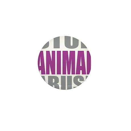 Stop-Animal-Abuse Mini Button