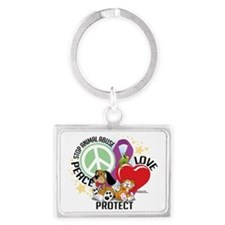 Stop-Animal-Abuse-PLP Landscape Keychain