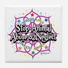 Animal-Rights-Lotus Tile Coaster