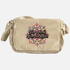 Animal-Rights-Lotus Messenger Bag