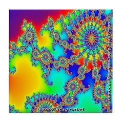 Fractal R~03 Tile Coaster