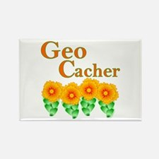 Orange Geocacher Rectangle Magnet