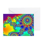 Fractal R~03 Greeting Cards (10 Pack)