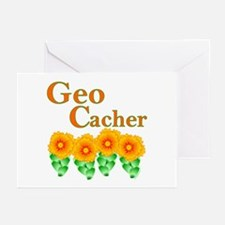 Orange Geocacher Greeting Cards (Pk of 10)