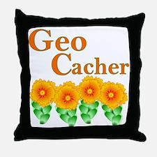 Orange Geocacher Throw Pillow