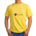 I HEART FEINGOLD Yellow T-Shirt