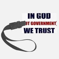 In-God-Not-Gov-(white-shirt) Luggage Tag