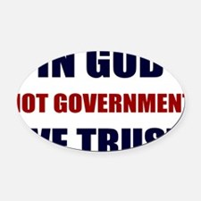 In-God-Not-Gov-(white-shirt) Oval Car Magnet