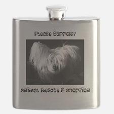 kiwi bw CP hearts Flask
