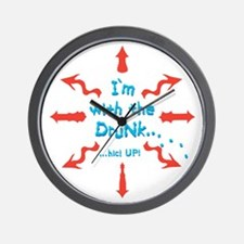 WithTheDrunk__FinalArt_color Wall Clock