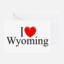 """""""I Love Wyoming"""" Greeting Cards (Pk of 10)"""