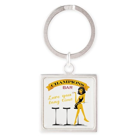 T-shirt-cafe4 Square Keychain