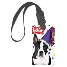 Boston Terrier Birthday Card out Luggage Tag