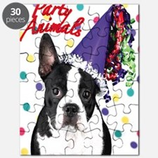 Boston Terrier Birthday Card outside Puzzle