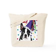 Boston Terrier Birthday Card outside Tote Bag