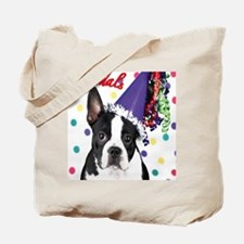 Boston Terrier Birthday Card outside Tote Bag
