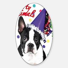 Boston Terrier Birthday Card outsid Decal