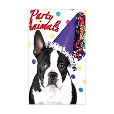 Boston Terrier Birthday Card o Decal