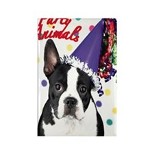 Boston Terrier Birthday Card outs Rectangle Magnet