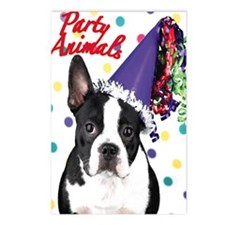 Boston Terrier Birthday C Postcards (Package of 8)