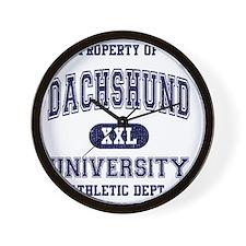 Dachshund-University Wall Clock