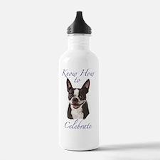 Boston Terrier Birthda Water Bottle