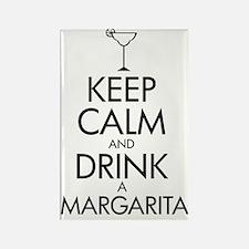 2-margarita black Rectangle Magnet