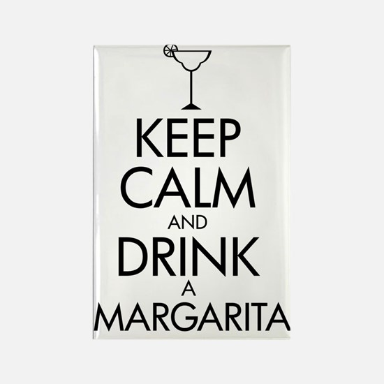 2-margarita black Rectangle Magnet