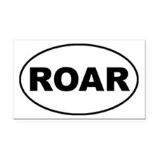 Roar oval-white Rectangle Car Magnet