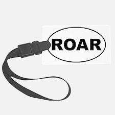 Roar oval-white Luggage Tag