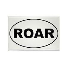 Roar oval-white Rectangle Magnet