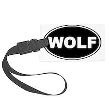 Wolf oval-black Luggage Tag