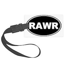Rawr oval-black Luggage Tag