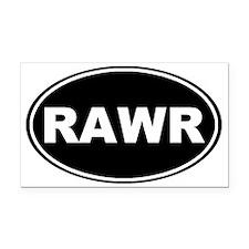 Rawr oval-black Rectangle Car Magnet