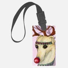 Red nosed reindog Luggage Tag