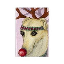 Red nosed reindog Rectangle Magnet