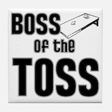 Cornhole_Boss_Black Tile Coaster