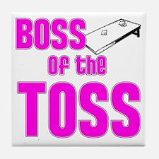 Cornhole_Boss_Pink Tile Coaster