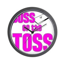 Cornhole_Boss_Pink Wall Clock