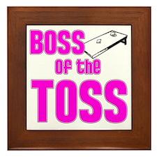 Cornhole_Boss_Pink Framed Tile