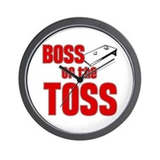 Cornhole_Boss_Red Wall Clock