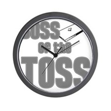 Cornhole_Boss_Grey Wall Clock