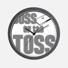 Cornhole_Boss_Grey Wall Clock