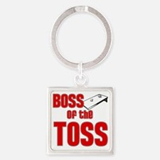 Cornhole_Boss_Red Square Keychain