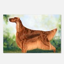 Irish Setter 3 by Dawn Se Postcards (Package of 8)
