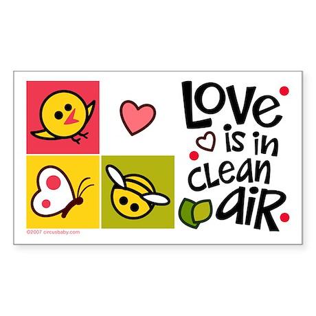 Love - Clean Air Rectangle Sticker