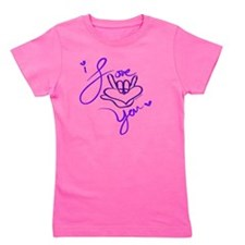 i_love_you_american_sign_language_blue Girl's Tee